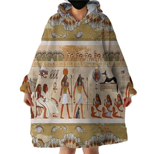 African Traditional Hooded Blanket Hooded Blanket BeddingOutlet 60cm*60cm*50cm