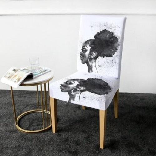 African Woman Chair Cover Chair Cover BeddingOutlet