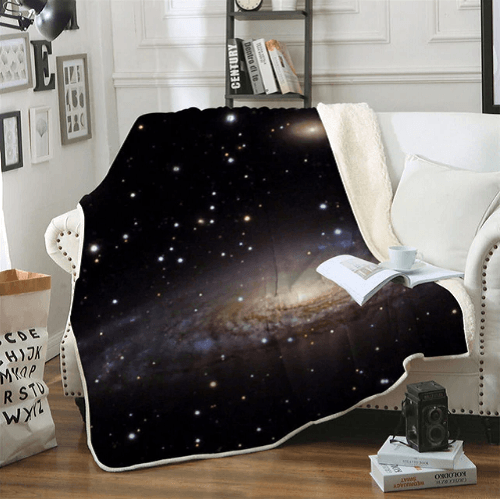 Amazing Galaxy Sherpa Blanket Throw Blanket BeddingOutlet 130cmx150cm