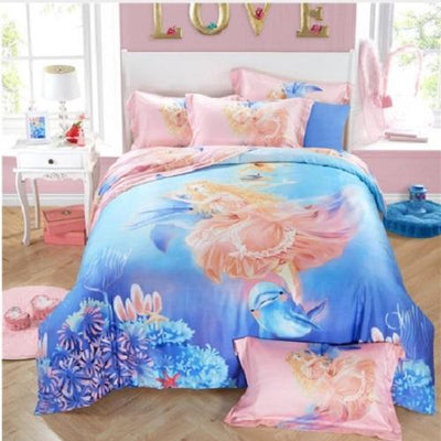 Angel Print Polyester Bedding Set Bedding Cover Set Svetanya AU single