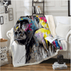 Animal Orangutan Colorful Throw Blanket Throw Blanket BeddingOutlet 130cmx150cm