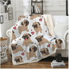 Animal Pug Dog Throw Blanket Throw Blanket BeddingOutlet 130cmx150cm
