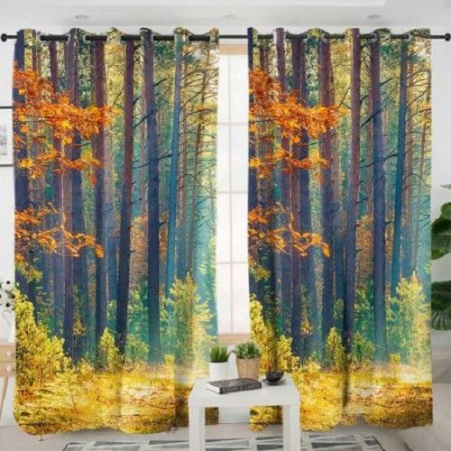 Autumn Forest Living Room Curtain Window Curtain BeddingOutlet W100xH130cm