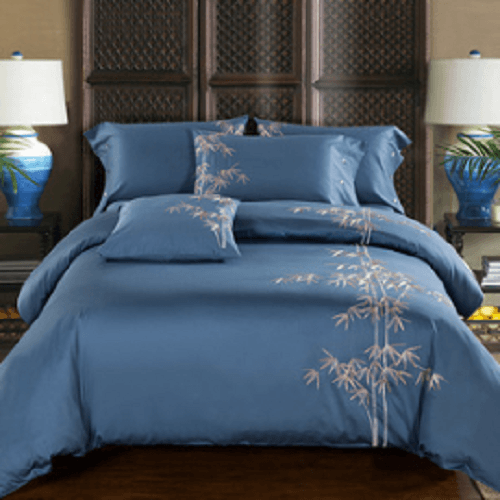 Bamboo Leaves Embroidered Bed Set Embroidered Bed Set Svetanya AU single