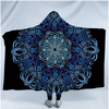 Beautiful Blue Flowers Hooded Blanket Hooded Blanket BeddingOutlet Kids 127(H)x152(W)