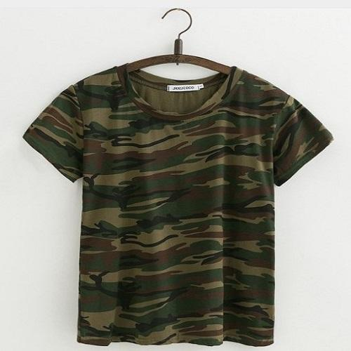 Beautiful Camouflage T-Shirt Women T Shirts JKKUCOCO XS