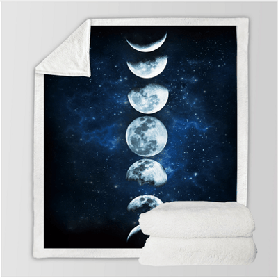 Beautiful Moon Prints Throw Blanket Throw Blanket BeddingOutlet