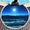 Beautiful Sea Moon View Round Towel Beach/Bath Towel BeddingOutlet Diameter 150cm