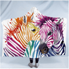 Beautiful Zebra Hooded Blanket Hooded Blanket BeddingOutlet Kids 127(H)x152(W)