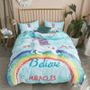 Believe Miracles Unicorn Bedding Set Bedding covers BeddingOutlet Single