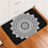 Black and White Floral Door Carpet Door & Floor Mats BeddingOutlet 40x60cm