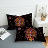 Black Colorful Elephants Exotic Bedding Set Bedding covers BeddingOutlet