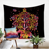 Black Elephants Colored Tapestry Tapestry BeddingOutlet 150cmx130cm