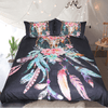 Black Feathers Skulls Duvet Cover Bedding Cover Set BeddingOutlet Single