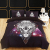 Black Galaxy Wolf Bedding Set Bedding covers Svetanya Single