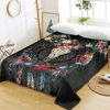 Black Gothic Horns Flowers Bed Sheet Bedding Covers Sheets BeddingOutlet Twin