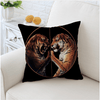 Black Tiger Printed Cushion Cover Cushion Cover BeddingOutlet 45cmx45cm