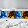 Blue and Yellow wolf wolves Pillow Case Pillowcases BeddingOutlet 50cmx75cm