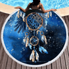Blue Galaxy Eagle Round Beach Towel Beach/Bath Towel BeddingOutlet Diameter 150cm