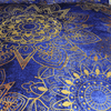 Blue Golden Flowers Duvet Cover Bedding Set BeddingOutlet