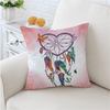 Blue Heart Dreamcatcher Cushion Cover Cushion Cover BeddingOutlet 45cmx45cm