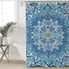 Blue Mandala Boho Shower Curtain Shower Curtains BeddingOutlet 90x180cm