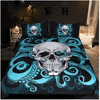 Blue Octopus and Skull Bedding Set Bedding Set BeddingOutlet Single
