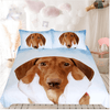Blue Sky Brown Dog Bedding Set Bedding Set BeddingOutlet Single