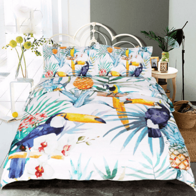 Bohemia Pineapple Duvet Cover Set Bedding Set BeddingOutlet Single