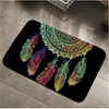 Bohemian Colorful Feathers Door Mat Door & Floor Mats BeddingOutlet 40x60cm