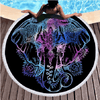 Bohemian Elephants Round Beach Towel Beach/Bath Towel BeddingOutlet Diameter 150cm
