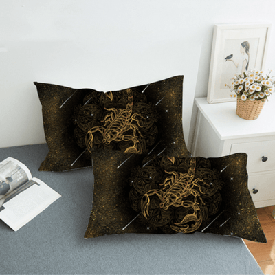 Bohemian Gold Scorpion Bedding Set Bedding Set BeddingOutlet