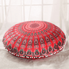 Bohemian Red Round Mandala Cushion Cover Cushion Cover BeddingOutlet Diameter 45cm