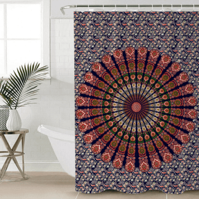 Boho Mandala Shower Curtain Shower Curtains BeddingOutlet 90x180cm