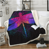 Boho Purple Pink Insect Throw Blanket Throw Blanket BeddingOutlet 130cmx150cm