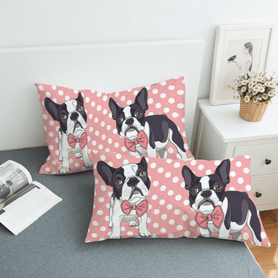 Bow Tie Bull Dogs Bedding Set Bedding Set BeddingOutlet