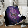 Butterfly Purple Throw Blanket Throw Blanket BeddingOutlet 130cmx150cm