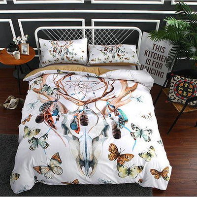 Butterfly & Skulls Gothic Bedding Set Bedding covers BeddingOutlet Single