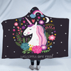Cartoon Unicorn Hooded Blanket Hooded Blanket BeddingOutlet Kids 127(H)x152(W)