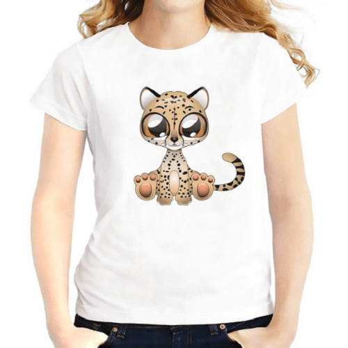 Cheetah Summer Women T-Shirts Women T-Shirts JollyPeach S