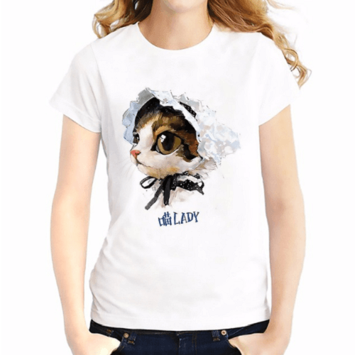 Chinchilla Cat Lady Women T-Shirts Women T-Shirts JollyPeach S