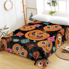 Cobweb Flowers Pumpkin Flat Sheet Bedding Covers Sheets BeddingOutlet Twin