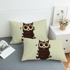 Coffee Cute Owl Bedding Set Bedding Set BeddingOutlet