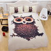 Coffee Cute Owl Bedding Set Bedding Set BeddingOutlet Single