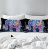Colorful Elephants Pillow Case Pillowcases BeddingOutlet 50cmx75cm