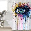 Colorful Eye Waterproof Shower Curtain Shower Curtains BeddingOutlet 90x180cm