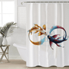 Colorful Fishes Printed Shower Curtain Shower Curtains BeddingOutlet 90x180cm