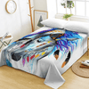 Colorful Horse Printed Flat Sheet Bedding Covers Sheets BeddingOutlet Twin