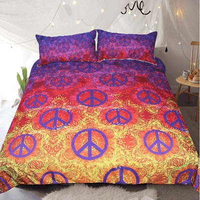 Colorful Printed Duvet Cover Set Bedding Set BeddingOutlet Single