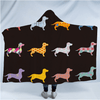 Colorful Puppy Hooded Blanket Hooded Blanket BeddingOutlet Adults 150(H)x200(W)